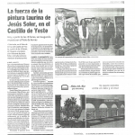 La fuerza de la pintura taurina de Jesús Soler, en el Castillo de Yeste